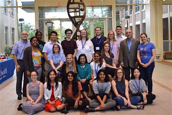 A group photo of university scholars