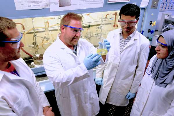 Medicinal chemists at the University of Florida College of Pharmacy are fine tuning the structural positions of chemical compounds to find the most promising drug options for killing dangerous bacterial biofilms. Rob Huigens, Assistant Professor of Medicinal Chemistry, College of Pharmacy - Dept. of Medicial Chemistry